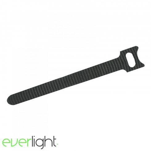 Tépőzáras vezetékkötegelő, fekete 240 x 12 mm (10db)