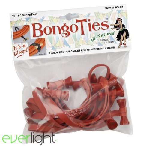 BongoTies (10 darab) piros, kötegelő