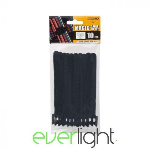 Handy Tépőzáras kábelkötegelő - 125x12mm fekete (10db)