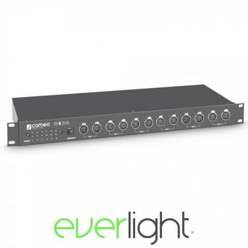 Cameo Light SB 6 Dual, 6 csatornás DMX splitter (3+5 pólusú XLR)