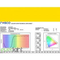 Rosco E-Colour 010 - Medium Yellow színfólia