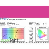 Rosco E-Colour 128 - Bright Pink színfólia