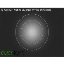 Rosco E-Colour 251 - Quarter White Diffusion színfólia