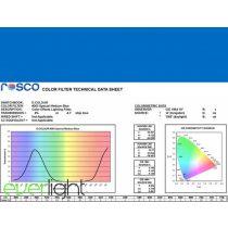 Rosco E-Colour 363 - Special Medium Blue színfólia