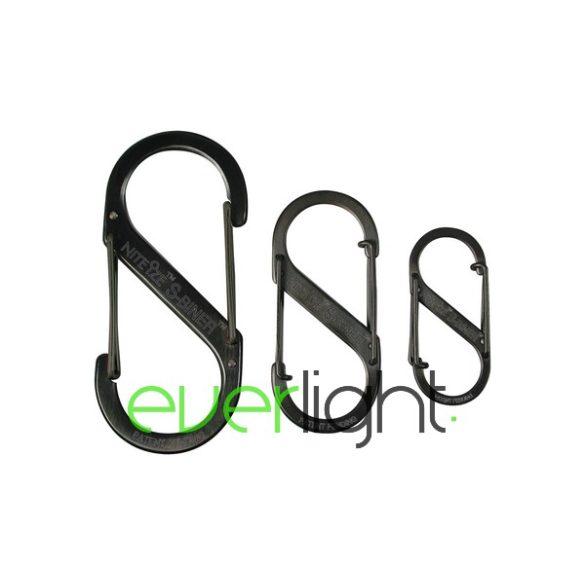"""Nite Ize """"S"""" karabíner, #1 méret, fekete"""