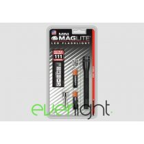MAG-LITE Mini Maglite LED 2 84 lumen - Cell AAA elemlámpa, fekete, bliszteres