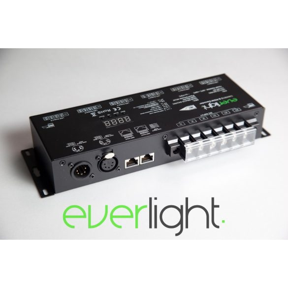 Everlight PRO DMX dekóder - 24x3A, RDM, Flicker-free, 12-24V